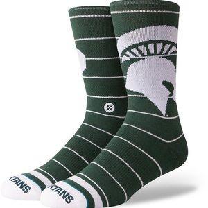 🆕 Stance Michigan State MSU Spartans Crew Socks